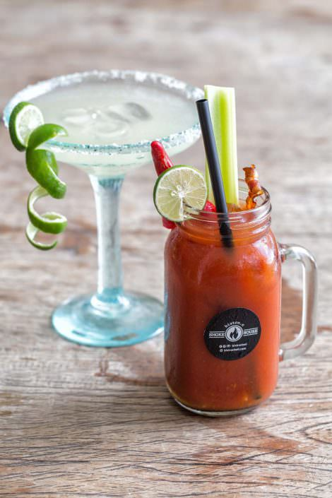 Double Margarita and Smoke House Bloody Mary