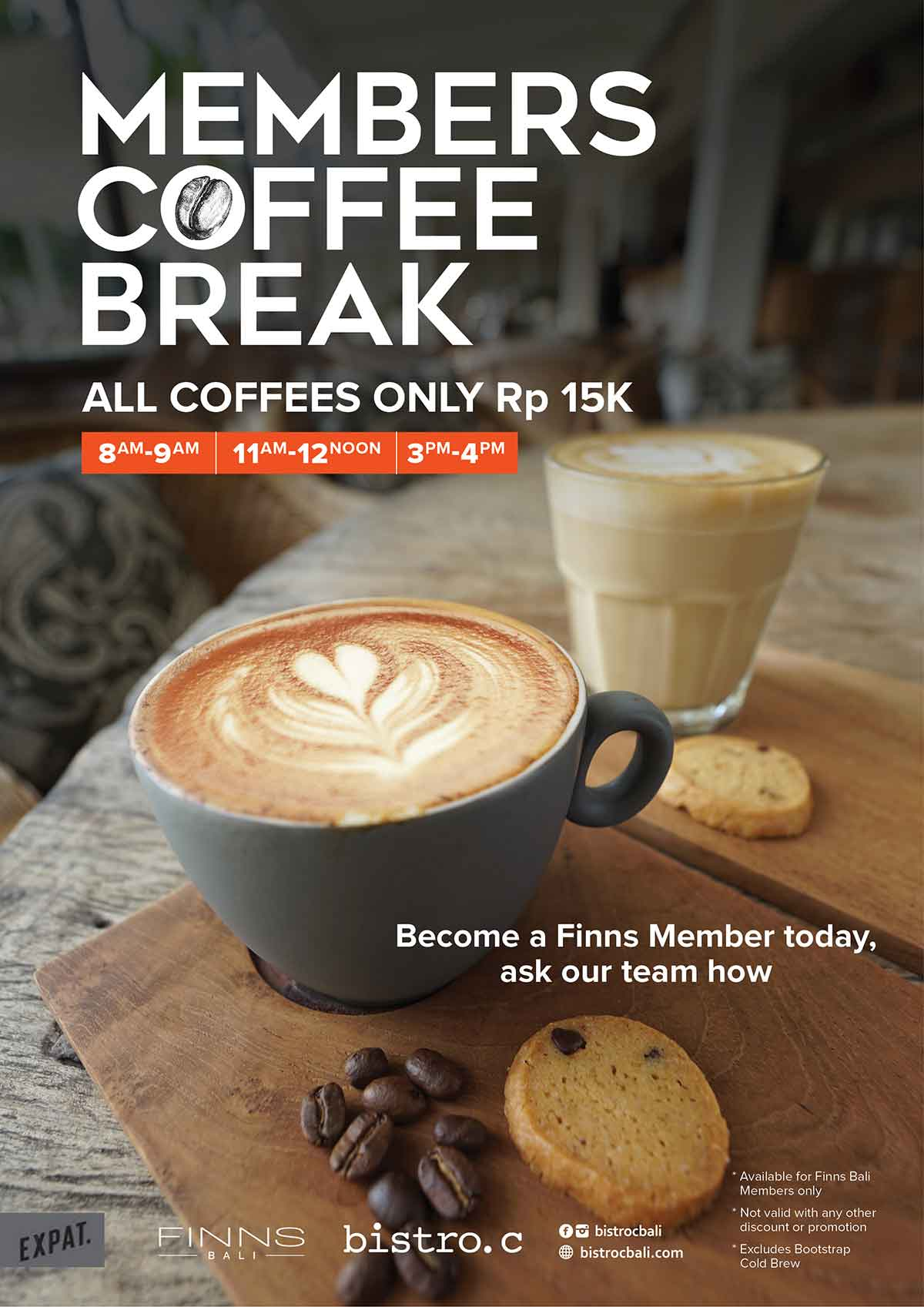 Members Coffee Break at Bistro C Smoke House Bali